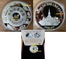 Jahr des Ochsen   2000 Kip 2021   Laos   mit Jade !!!