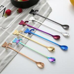 Bear Spoons Hanging Cups Ice Cream Stainless Steel Coffee Tea Spoon JA
