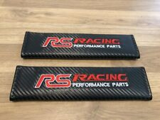 2X Seat Belt Pads Carbon Gifts Ford Focus rs Racing Race Sport performance parts