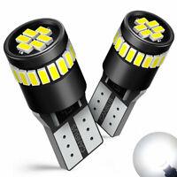 2Pcs T10 W5W 501 194 LED CAR SIDE LIGHT BULB BULBS ERROR FREE CANBUS 6500K White