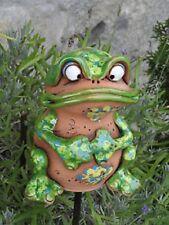 Keramik Frosch k Dekoration Garten Terrasse Deko Cer Handarbeit Figur Skulptur