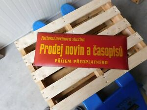 Czech Republic - Sale of Newspapers and Magazines - Enamel Porcelain Street Sign