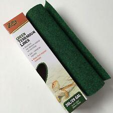 "Zilla 20 Long & 29 gallon Green Terrarium Liner Cage Carpet Mat size 12 x 30 """
