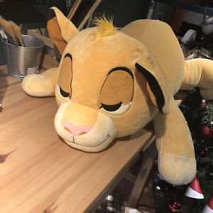 "Disney SIMBA CUDDLEEZ PLUSH 26"" Lion King Soft Pillow LARGE NEW"