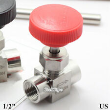 "Needle valve Ball valve 1/2"" inch NPT Stainless Steel High pressure Water Gas US"
