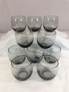 Set of (10) NFL Baltimore Colts Stemless Smoked Gray Glasses