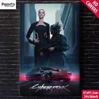 CYBERPUNK 2077 Poster Canvas 60x90cm/24x36in Neomilitarism Styles of Cyberpunk