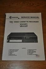 Samsung VI-510T VB-510T VHS VCR véritable atelier service manual