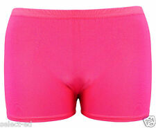 Ladies Girls UV Neon Lycra Shorts Hot Pants Dance Party Casual Club Gym Uk Size
