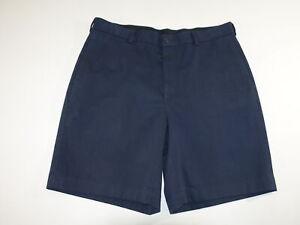 Brooks Brothers Men's Advantage Chino Shorts Size 36 Navy Blue Flat Front Khaki