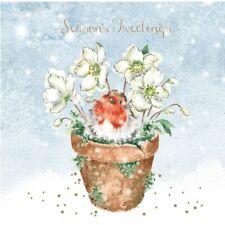 Wrendale Designs Christmas Card Box Set of 8 C  Seasons Tweetings