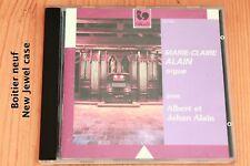 Marie-Claire Alain joue Albert et Jehan Alain - Orgue - Boitier neuf - CD GALLO