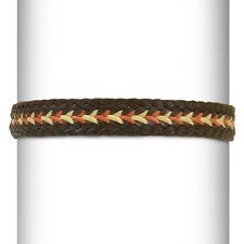 Expo Leather Look Braided Stretch Headband