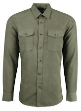 MENS DOUBLE POCKET SUEDE LOOK FORMAL PARTY CASUAL DRESS  SHIRT NOW £19.99 (488)