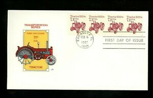 US FDC #2127 House of Farnam Cachet Transportation Tractor coils 5/6/1987