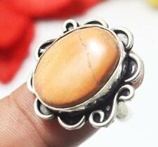 "Mookaite Gemstone Ring 925 Silver Overlay Us Size 7.5"" U238-B67"