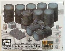 AFV Club 1/35 scale kit AF35266, German fuel drums