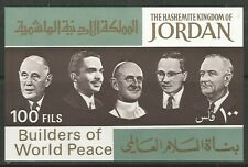 STAMPS-JORDAN. 1967. Builders of World Peace Miniature Sheet. SG: MS786. MNH