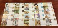 Tarjeta Postal 25 diferentes sellos España FNMT