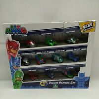 PJ Masks Deluxe Vehicle Set With 10 Vehicles (Damaged Packaging) 95785 - New