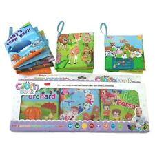 Baby Soft Cloth Books, Educational Activity Crinkle Books -Set of 6
