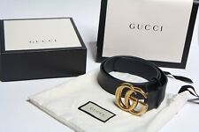 94c8536d78d Gucci Belt GG Black Leather 4cm Size 90