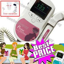 bolsillo obstétrica doppler fetal LCD a color,gel,auricular,sonda 2MHZ de man,CE