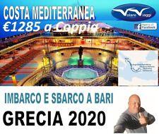 Acconto Crociera isole greche con Costa Crociere 8 giorni da Bari 13 giugno 2020
