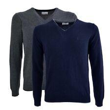 Maglioncino Conte of Florence scollo a V manica lunga maglia maglione lana Lucio