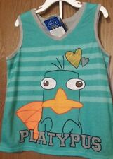 Phineas and Ferb PERRY Pajamas Girl's 7/8 NeW Platypus Shirt and Shorts Pjs Set