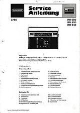 Service Manual-Anleitung für Grundig RR 900/RR 920/RR 940