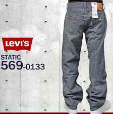 NWT LEVIS 569 LOOSE STRAIGHT FIT STATIC WASH 0133 ZIP FLY JEANS 29 X 32 #1207