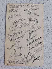More details for rare! manchester city 1947-48 hand-signed autographs (24) joe fagan roy clarke