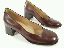 Raphaella Venturini womens Italian made brown leather mid heel shoes uk 4 Eu 37