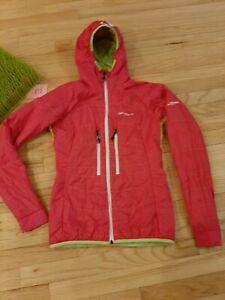 Womens ORTOVOX Hooded Swisswool Inside Full Zip Jacket Sz XS