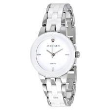c8c0df853dc7 Anne Klein AK 1611 wtsv esfera Diamantes Tono Plateado De Cerámica Blanca  Reloj De Mujer