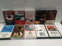 Lot 10 Vintage Happy Holidays Cassette Tapes Christmas Music, Country,  Disco