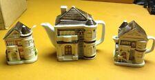 OTAGIRI JAPAN 1983 TEA POT MATCHING CREAMER AND SUGAR SET EUC