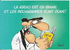 """CPM - Carte postale - Les BIDOCHON """"La radio est en panne et les programmes...."""""""