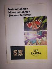 ORIGINAL  EXAKTA VAREX EXA IHAGEE DRESDEN 1964 Prospekt Kamera  DDR