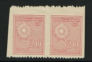Paraguay SC# 279 Imperf Pair Mint Light Hinged - S11796