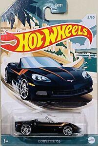 hot wheels Premium New And Vintage Convertibles Corvette C6 Black 2021 New