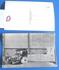 D / Jean Dagonet / CITROEN 2 CV / carte postale  ; exposition Bol d'Or 1954