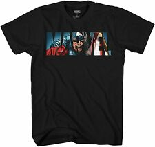 Marvel Logo Captain America Avengers Adult Tee Graphic T-Shirt for Men Tshirt