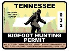 Bigfoot Hunting Permit - TENNESSEE (Bumper Sticker)