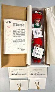 Mini Jingles & Belle Christmas - Marie Osmond Fine Porcelain Dolls Limited Ed.