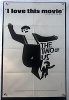 TWO OF US Movie Poster Art (VeryGood) One Sheet 1967 Michel Simon Saul Bass 4007