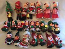 Lot 23 Vintage Christmas Ornaments Carolers Santa Clown