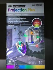 Lightshow Projection Halloween LED Whirl-a-motion+Static Light. Multicolor