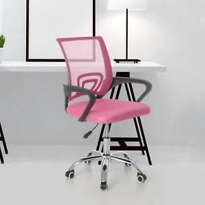 Schreibtischstuhl Kinder Jugend Drehstuhl Stoff Stuhl Bürostuhl Rosa Gaming-Stuh